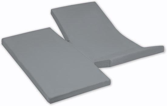 Damai - Hoeslaken dubbele split (tot 35 cm) - Katoen - 180 x 210 cm - Grey