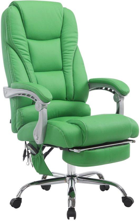 Clp Bureaustoel PACIFIC - Met massagefunctie - Kunstleer - Groen