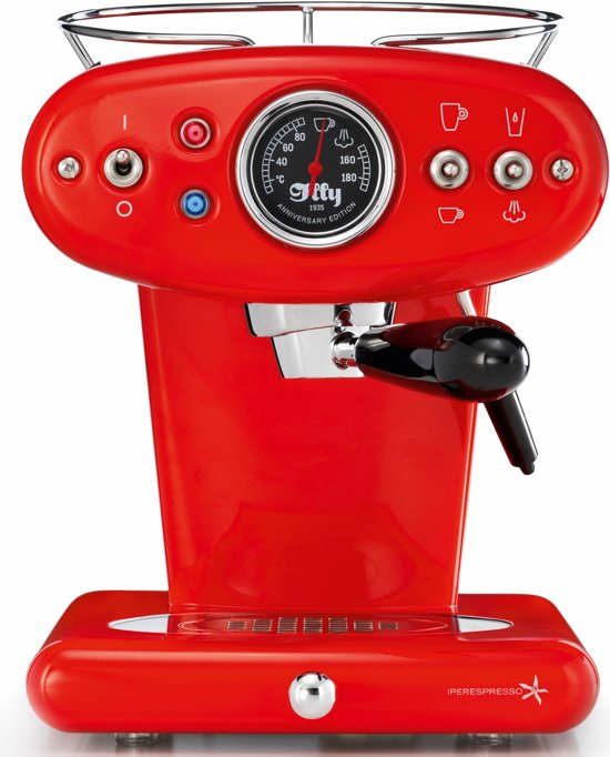 illy Francis Francis X1 Anniversary Iperespresso - Koffiecupmachine - Rood