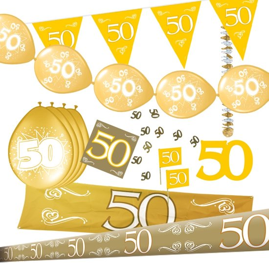 versiering 50 jaar bol.| 50 Jaar Getrouwd Versiering Pakket, Folat | Speelgoed versiering 50 jaar