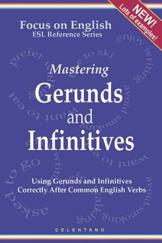 Bol English Gerunds And Infinitives For Esl Learners Using