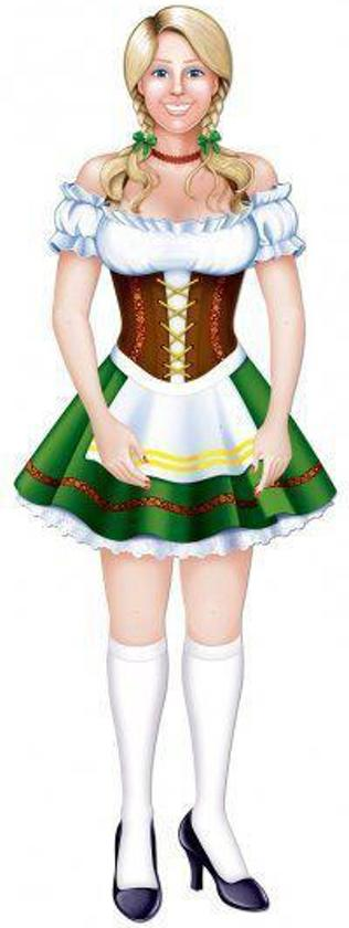 Fraulein Oktoberfest wanddecoratie