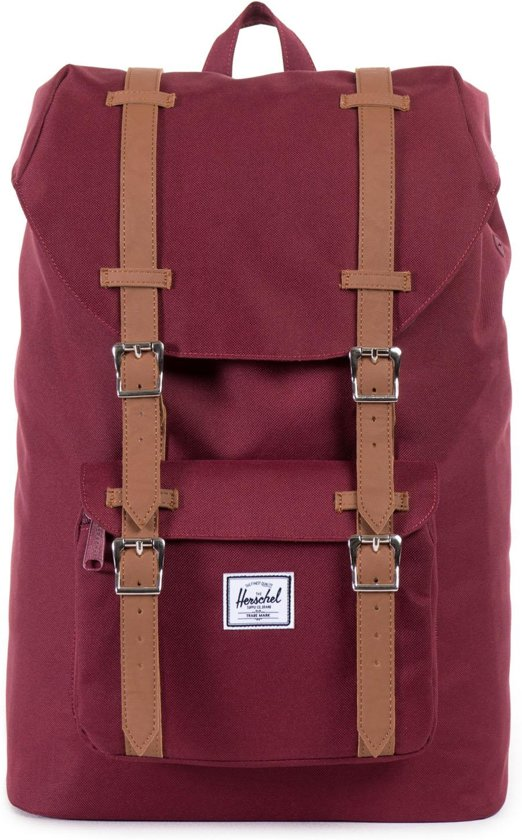 Herschel Supply Co. Little America Mid-Volume - Rugzak - Windsor Wine / Tan PU
