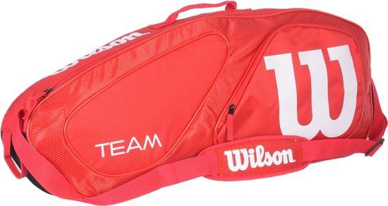 c7930b6b31c bol.com | Wilson Tennistas - Unisex - rood/zwart/wit