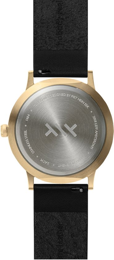 Tube watch T40 brass / black leather strap