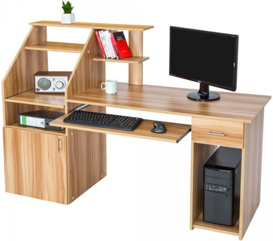 computer bureau buro kernbeukenhout 163 cm 401666. Black Bedroom Furniture Sets. Home Design Ideas