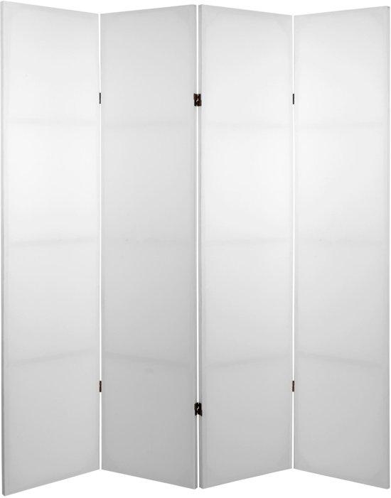 Orientique Kamerscherm 4 Panelen Blanco Do-It-Yourself Canvas Room Divider Scheidingswand