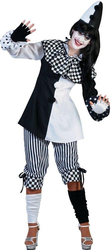Pierrot Kostuum | Clown Classico | Vrouw | Maat 40-42 | Carnaval kostuum | Verkleedkleding