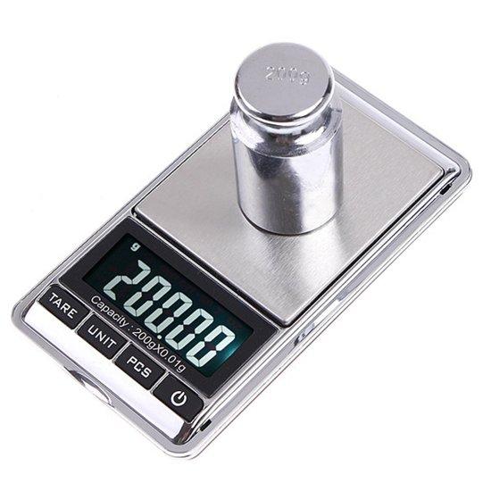 Precisie weegschaal - Digitale precisie weegschaal voor keuken, apotheek... tot 200g en 0,01g nauwkeurig