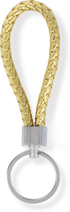 Sleutelhanger | Handgemaakte Goude Gevlochten Geweven Sleutelhanger| Mode| Auto Sleutelhanger Goud | Huissleutel | Metalen Sleutelhangers| Sleutelhanger Mannen of Vrouwen | Fietssleutel | Goedkope Sleutelhanger