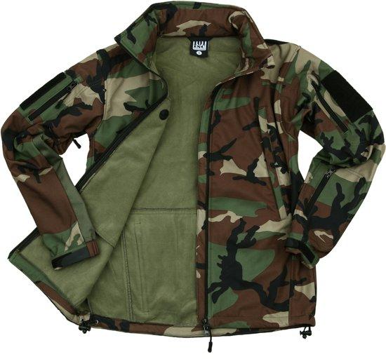 101inc Softshell Jack Tactical Woodland woodland camo