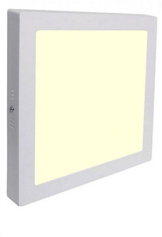 LED Downlight - Opbouw Vierkant 18W - Warm Wit 3000K - Mat Wit Aluminium - 225mm