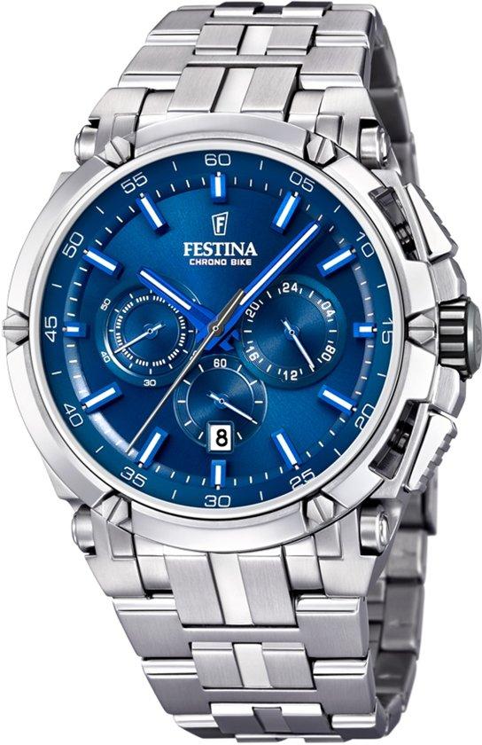 Festina F20327/3 horloge heren - zilver - edelstaal