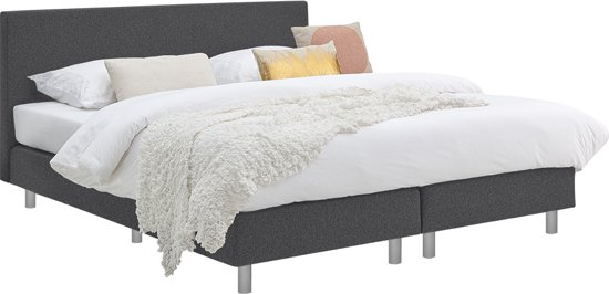 Beter Bed Basic boxspring Cisano met Easy Pocket matras - Tweepersoons - 180x200cm - Anouk antraciet