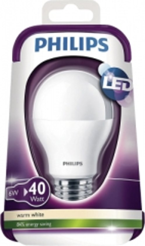 philips led lamp e27 6w 40w. Black Bedroom Furniture Sets. Home Design Ideas