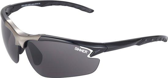 Sinner Firebug Sportbril + Extra Lenzen - Zwart - One Size
