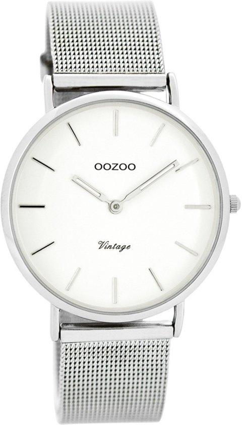 OOZOO Vintage C7728 - Horloge - Staal - Zilverkleurig - 36 mm