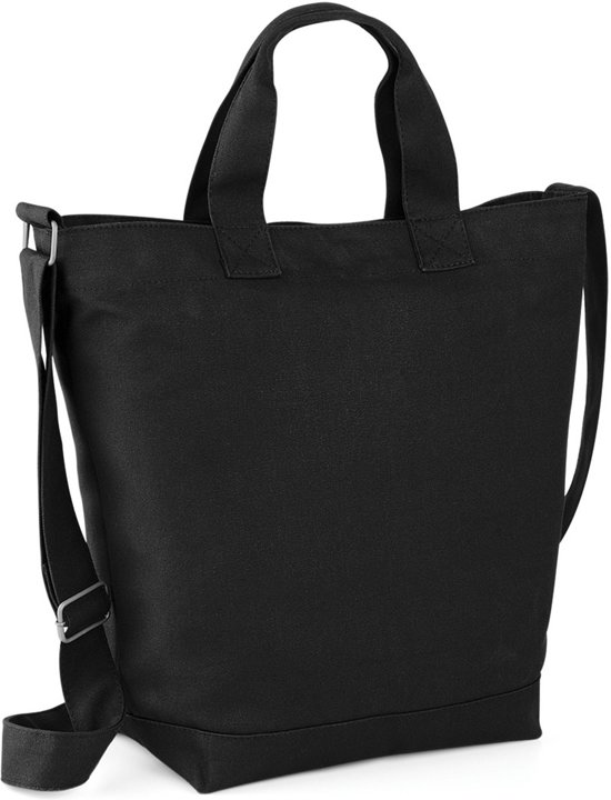 Bagbase Canvas Day Bag Zwart 15 liter