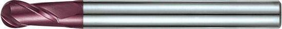 Radiusfrees WN, HA Z2 VHM TiALN 12,0mm, D 6mm
