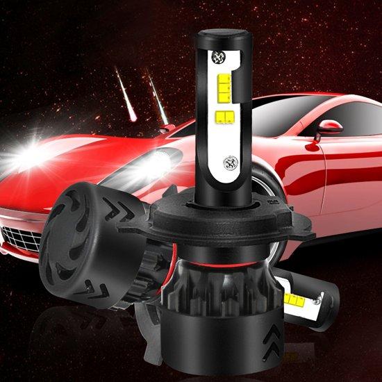 2 STKS Auto H4 / 9003 / HB2 24 W 2200LM 6000 K Pure Wit ZES LED Koplamp Bollen Conversie Kit, DC 9-36 V