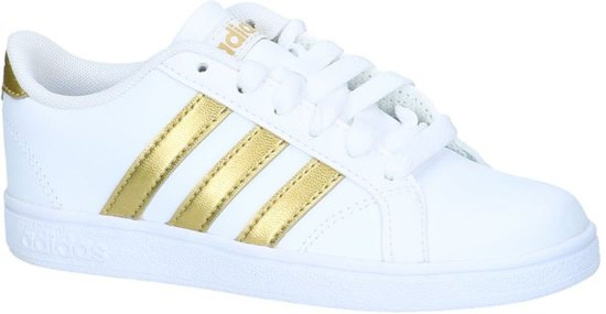 272445c1f6d bol.com | Witte adidas Sneakers Gouden Strepen Baseline K - Maat 35