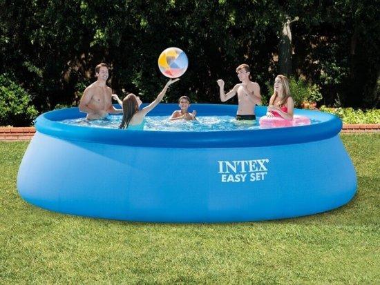 Intex Easy Set zwembad 457 x 107 cm (met reparatiesetje)