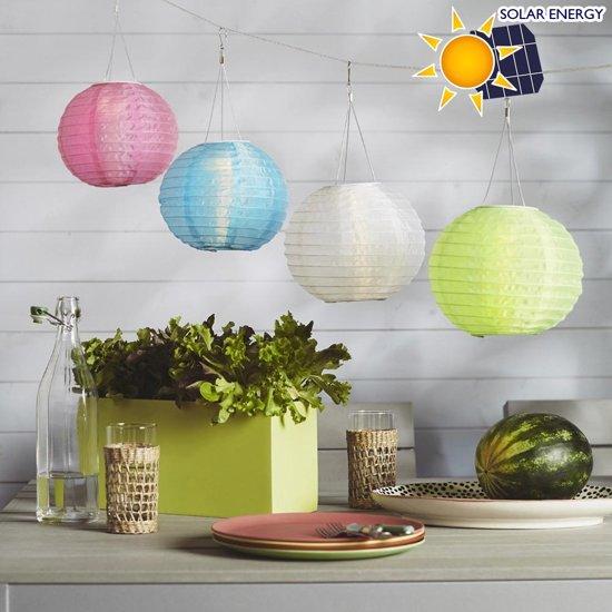 bol.com | LED lampion solar - diameter 28cm - 58 cm lang - 1 stuk ...