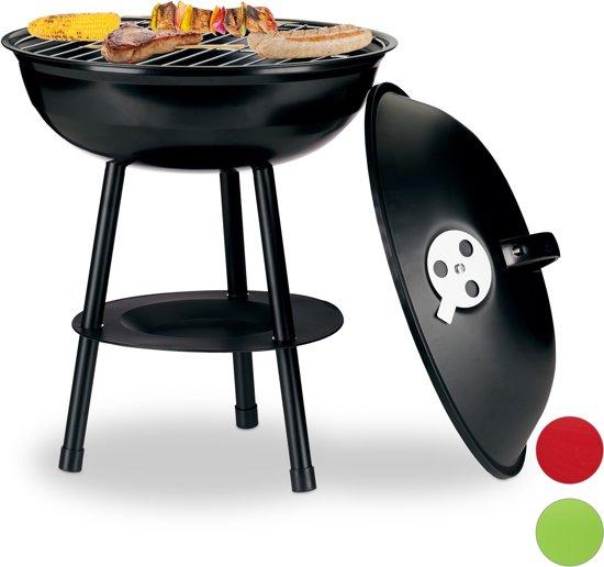 Bbq Met Deksel.Relaxdays Kogelbarbecue Houtskoolbarbecue Kogelgrill Houtskool Bbq Rond Deksel Zwart