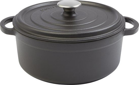 Cuisinova Braadpan - Gietijzer - 5,5 l - Ø28 cm - Zwart