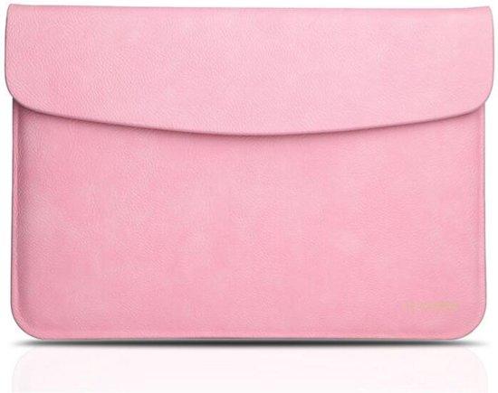 5342a6f5787 bol.com   Leren sleeve voor MacBook Air/Pro 13 inch - roze
