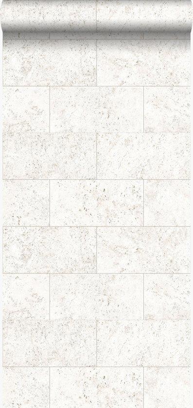 Origin behang kalkstenen blokken gebroken wit - 347580