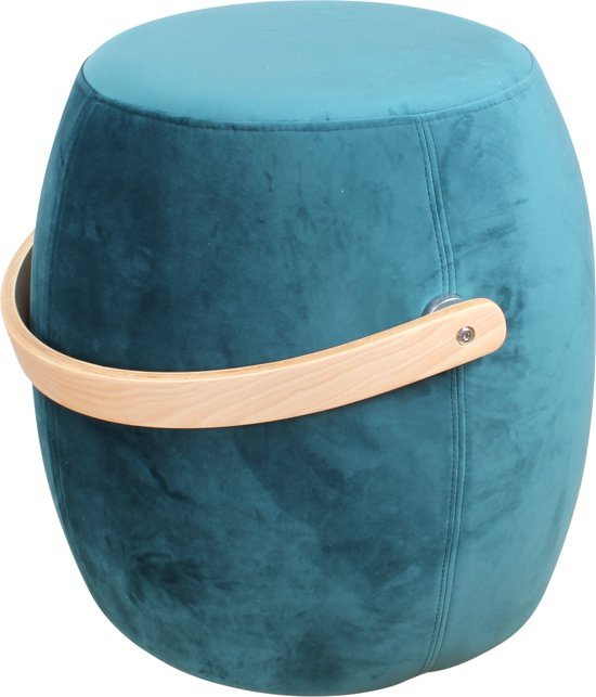 Bol Com Ds4u Color Hocker Velet Petrol Blauw