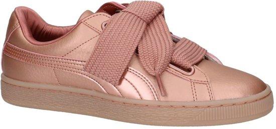 Rose Gold Lage Sneakers Puma Basket Heart