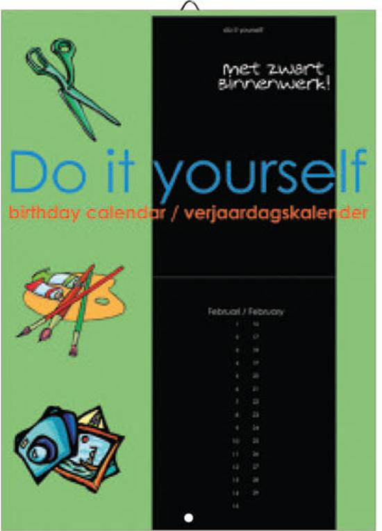 Verjaardagskalender - Do it yourself (Black)
