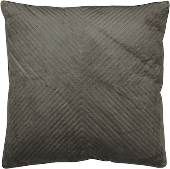 Home Delight Velvet grijs - Sierkussen - 45x45cm - Grijs