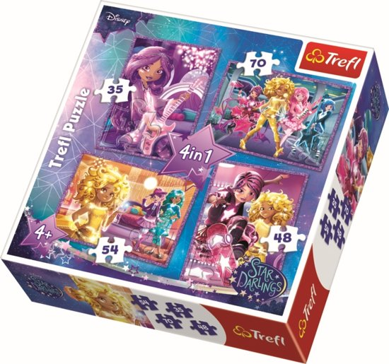 4 in 1 - Star friends / Disney Star Darlings Puzzel