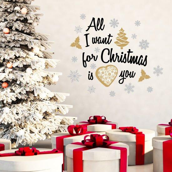 All I Want For Christmas.Walplus Muursticker Kerst All I Want For Christmas