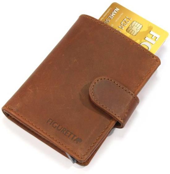 Figuretta Card Protector  RFID - Creditcardhouder - Leer - Bruin