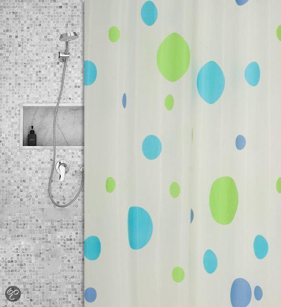 Roomture - douchegordijn - gekleurde cirkels - 120 x 200 cm