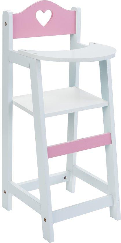 Ouderwetse Houten Kinderstoel.Bol Com Houten Poppen Kinderstoel Hout Poppenstoel Wit Met Roze