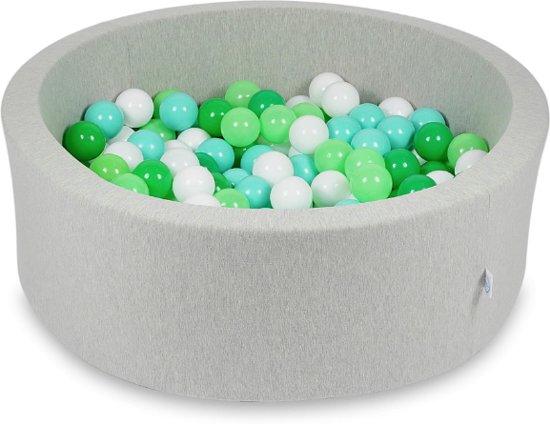 Ballenbak - 200 ballen - 90 x 30 cm - ballenbad - rond grijs