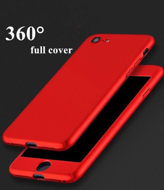 Full cover case 360 graden hoesje - iPhone 7 / 8 - rood