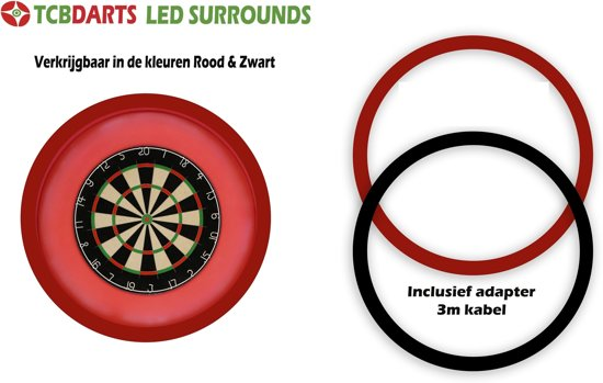 tcb xxl dartbord verlichting voor om dartbord surround