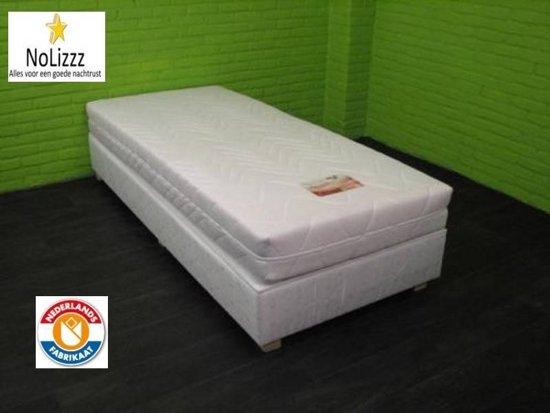 Hotel boxspring Geveerde Box - Wit - voor een ultiemslaapcomfort.nl
