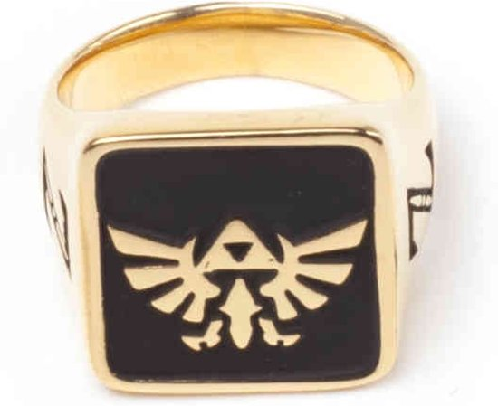 Zelda Hyrule signet golden ring-S
