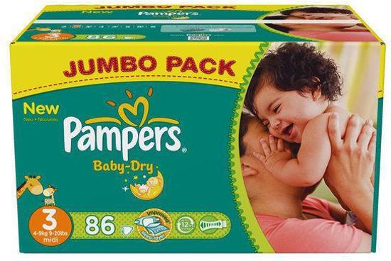 Pampers Baby Dry - Luiers Maat 3 - Jumbo box plus 86st
