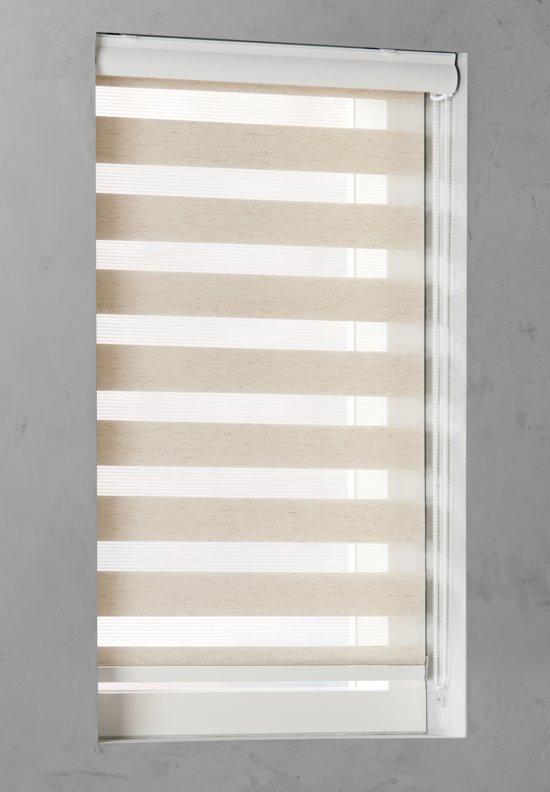 Duo Rolgordijn lichtdoorlatend Linen - 50x175 cm