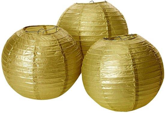 Lampionnen - goud 20 cm (3 stuks) Valentinaa