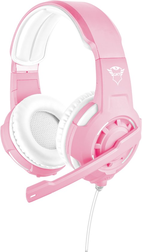 Trust GXT 310 Radius - On-ear Gaming Headset (PC + PS4 + Xbox One) - Roze/Wit
