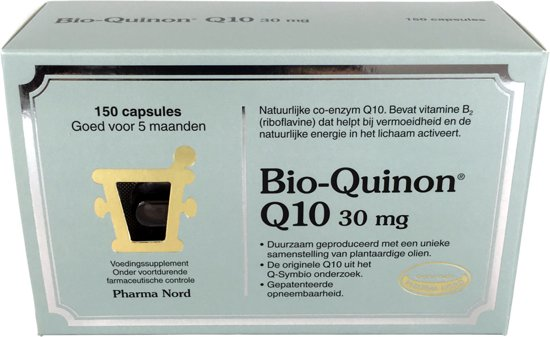 Pharma Nord Bio-Quinon Q10 Active  30 mg - 150 Capsules - Voedingssupplement